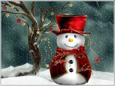 Country Snowman Wallpaper