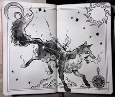 """Vulpecula, """"the fox"""" constellation ⭐️""""As they're very smart, Vulpecula travel the sky alone, running their own errands, just like some people do. They're also keepers of Sagitta..."""