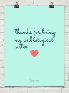 Thanks for being my unbiological sisters !  Thanks to all I've met and followed and been followed on this board. I love sharing with you all! Hugs, Maggie.  ( Heathers mom)