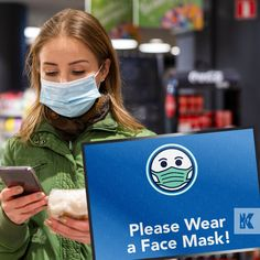 Wearing face coverings in enclosed public spaces such as shops and supermarkets will become mandatory from 24th July! Give your customers a visual reminder as they enter your store with a printed safety message mat, so they might avoid the awkward conversation with your staff and the £100 fine.  #KleenTexEurope #Facemask #Coronavirus #Messagemat #Floormat #MakeMoreofYourFloor Safety Message, Blue Mask, Public Spaces, World Leaders, Awkward, Conversation, Shops, Printed, Cover