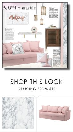 """""""Blush & Marble"""" by rosie305 ❤ liked on Polyvore featuring interior, interiors, interior design, home, home decor, interior decorating, homedecor and blushmarble"""