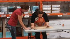 Jennifer helping a customer with her project!
