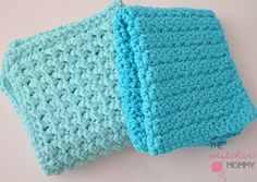 Easy Textured Washcloth - Two Free Patterns | www.thestitchinmommy.com