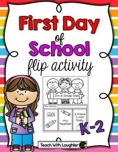 FREE Are you looking for a quick, interactive flip activity for back to school?  I'll be using this with my first graders but have also included a kindergarten and grade two option.