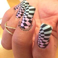 #nailart #stampingnailart #checkernails #manicure