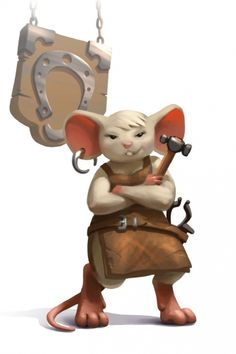 MouseHunt is a fun adventure game where players engage in royal quests as a MouseHunter, hired by the King, to catch the unique and ridiculous mice that have invaded the kingdom! Dnd Dragons, Dungeons And Dragons, Fantasy Rpg, Fantasy Artwork, D D Characters, Fantasy Characters, Mouse Guard Rpg, Character Concept, Character Art