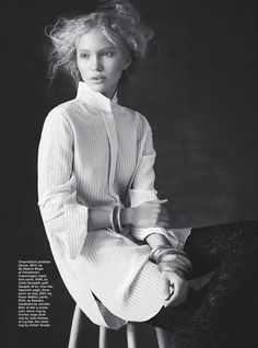 'The New Romantic' Kim van der Laan by Nicole Bentley for Marie Claire November 2014 [Editorial] - Fashion Copious