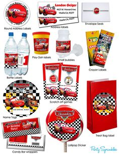 Disney Cars Favors & Labels - You Pick!-Made 2 match party favors and labels…