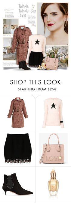 """Star Outfit"" by thewondersoffashion ❤ liked on Polyvore featuring GET LOST, Prada, Bella Freud, Fleur du Mal, MICHAEL Michael Kors, Aquazzura, Xerjoff and Bésame"