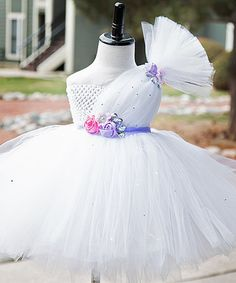 Another great find on #zulily! White & Lavender La Bella Dress - Infant, Toddler & Girls by Tutu's Galore #zulilyfinds