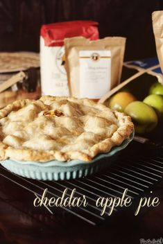 Cheddar Apple Pie - yep. Cheddar in my apple pie!