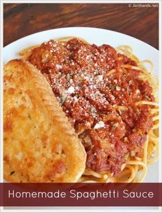 Homemade Spaghetti Sauce at Jam Hands