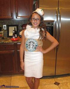 Starbucks Vanilla Latte Costume - 2013 Halloween Costume Contest via @costumeworks