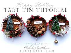 Simple Holiday Tart Tin Ornament Tutorial - YouTube