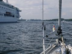 Towards Stockholm - a lot of #traffic! #ferry #boat