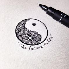 Si tú vida es un descontrol, este es tu tatuaje.  #yinyan