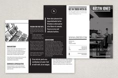 Modern Versatile Brochure Template - A minimalist modern black and white brochure design that can be utilized by an individual or business in any industry!
