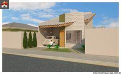 Planta de Casa - 3 Quartos - 81.45m² - Monte Sua Casa