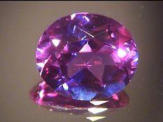 Created blue, purple, pink alexandrite