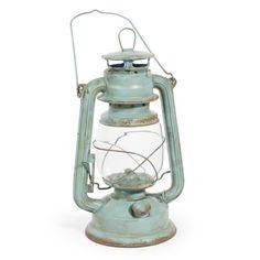 Lanterne Lampe à huile verte H 28 cm