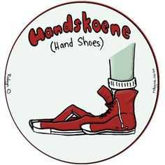 Handskoene (Gloves) - Cute Illustrations of Directly Translated Afrikaans Words by RobynO (Me) BoredPanda