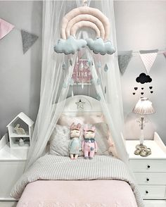 19 Natural Little Girl Bedroom Design Ideas You Have to See Girls Bedroom, Baby Bedroom, Nursery Room, Bedroom Decor, Bedroom Ideas, Trendy Bedroom, Bedroom Inspiration, Playroom Decor, Kids Decor