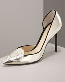 Versace Mirror Leather Pumps Shoes Bergdorf Goodman - Stylehive