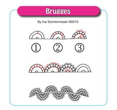 Inktober – New pattern: Brugges | Ina's Tangles