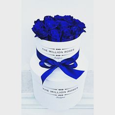 The million roses blue box Million Roses, Blue Roses, Blue Box, The Millions, Perfume Bottles, Gifts, Bike Baskets, Color, Blossoms