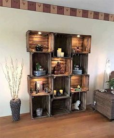 A cupboard that decorates a living room is a very important furniture item for decoration. A pallet wood made cupboard if used makes a room look perfect and elegant. Source A cupboard that decorates a living room is something that adds beauty to the room. A pallet wood constructed wooden cupboard decorated with candles …