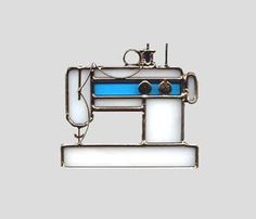 Sewing Machine, plus other small sun catchers..