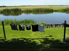 Waslijn Sloten Friesland | Waslijntjes Hung Up, Clothes Line, The Good Old Days, Laundry Room, Netherlands, Holland, Dutch, Around The Worlds, Landscape