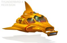 Redesign of the International Rescue craft. Pencil and Paint Shop 7 Thunderbird 1 redesign Thunderbird 1, Sci Fi Ships, Submarines, Paint Shop, Retro Futurism, Deviantart, Spacecraft, Trivia, Boats