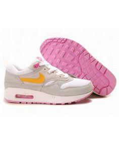 meet cbc93 48866 Women s Nike Air Max 1 Shoes Gray White Pink Sale