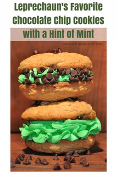 Leprechauns Favorite Chocolate Chip Cookies with a Hint of Mint