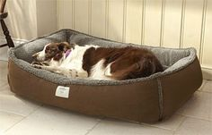 Memory foam dog beds for large dogs - http://www.snugglezzz.com/fleece_memory_foam_dog_bed_p/fmfb.htm