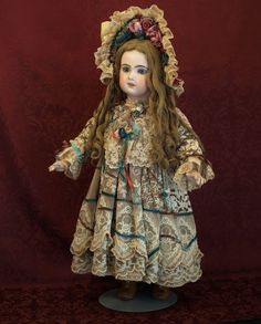 The Belle of the Ball- A Elaborate Couture Valencienne Lace Ecru Dress from patsyanndolls on Ruby Lane