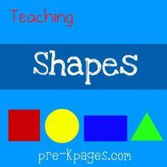 teaching shapes in preschool