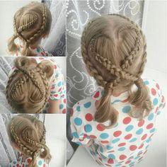 "881 Likes, 14 Comments - Little Girl Hairstyles (@braidsforlittlegirls) on Instagram: ""OMG, this is just so pretty! ❤️ Credit: @marissshaarcreaties"""