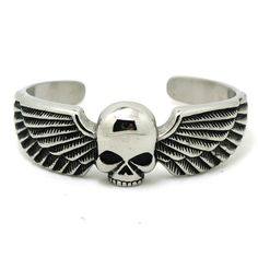 Stainless Steel Skull Wings biker Bracelet //Price: $20.95 & FREE Shipping //        Stainless Steel Skull Wings biker Bracelet         Wholesale prices on Trendy jewelry. Rebates from 20% – 80% OFF!  100% High quality! Factory Clearance price!  This one of a kind piece is trendy and unique.    21.80,   20.95  https://mymonsterdeal.com/stainless-steel-skull-wings-biker-bracelet/    My Monster Deal