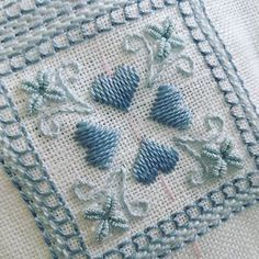Stitching #bullions flowers today on Hearts and Flowers #gingerbreadgirldesigns #italian #embroidery #puntoantico