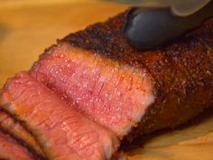Dry Rubbed London Broil recipe from Dave Lieberman via Food Network