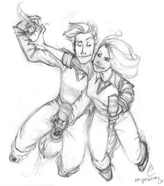 Heather drew this for me. Gosh, it was so long ago. I still love them.