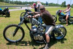 Matt Starling parks his Harleys and builds a CB 750 chopper in camo paint you couldn't miss if you tired.