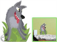 Wall decal wolf woodland by MHBilder on Etsy