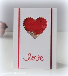 SSS Small Love You die, Small Heart Doily Craft Die, #SSS FAVE