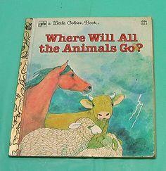 Little Golden Book Where Will All The Animals Go Children Board Book Vintage