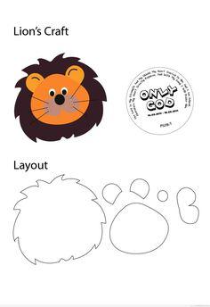 Plantilla o Molde de León para manualidades con niños