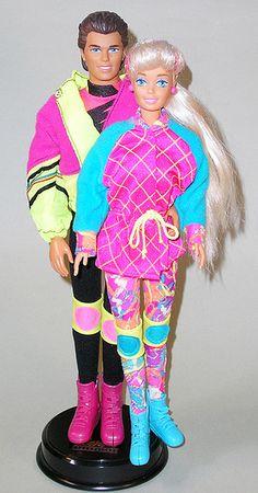 ken e Barbie winter sports
