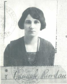 Miss Hannah Riordan was born 1890, Co Cork, Ireland. Hannah was seen as a domestic servant in the 1911 census. Hannah boarded Titanic at Queenstown as a 3rd class passenger. Travelling with Hannah were others from the Kingwilliamstown, Cork area, among them her cousin Patrick O'Connor & Daniel Buckley, Bridget Bradley, Patrick Denis O'Connell, Nora O'Leary & Michael Linehan. Hannah was rescued from the sinking in lifeboat 13 along with Bridget Bradley. She died 29 Sept 1982, New York, aged…